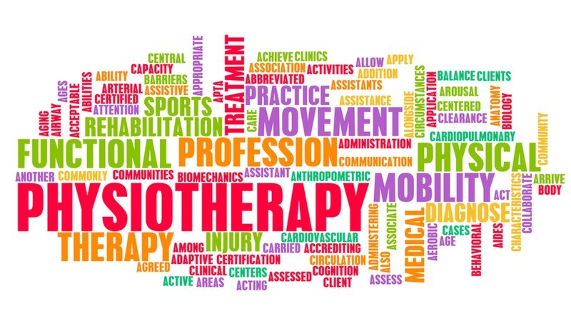 Physiotherapy word cloud